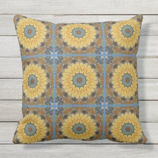 Rust-Mandala, ROSTart 894 Throw Pillow
