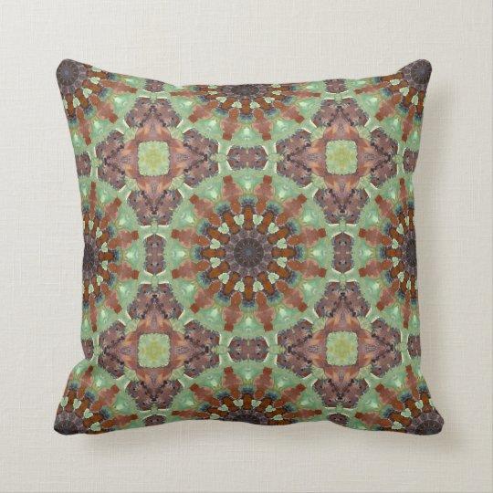 Rust-Mandala - ROSTart Throw Pillow