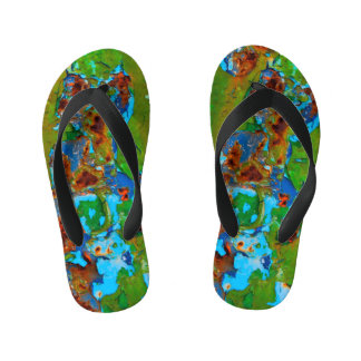 Rust Metal Peeling Paint Grunge Funny Decay - Kids Kid's Flip Flops
