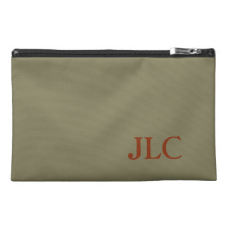 Rust Monogram on Taupe Travel Accessory Bags