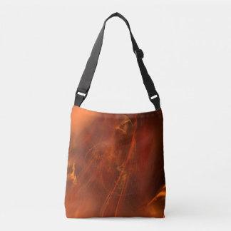Rust Realm Fractal Crossbody Bag