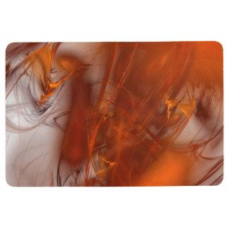 Rust Realm Fractal Floor Mat