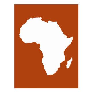 Rust Red Audacious Africa Postcard