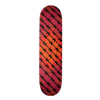 Rust Red Barbed Wire Barb Fencing Orange Custom Skateboard