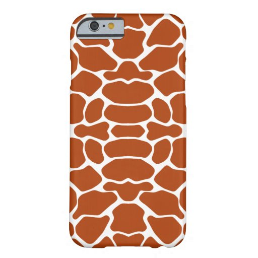 Rust Red Safari Giraffe iPhone 6 Case