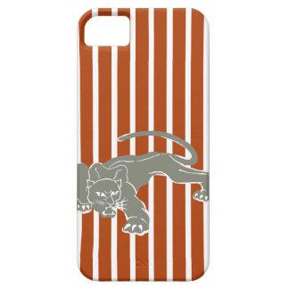 Rust Red Safari Stripe with Leopard iPhone 5 Case