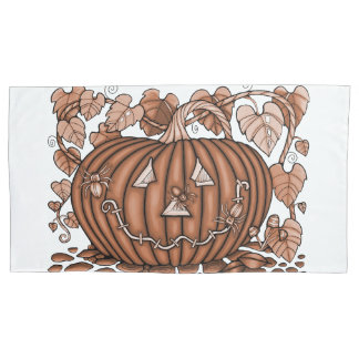 Rust Spidery Pumpkin Pillowcase