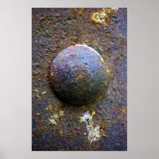 Rust Steel Rivet Industrial Distressed poster