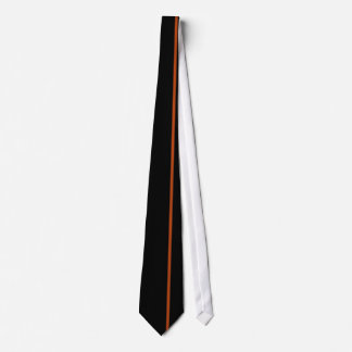 Rust Thin Vertical Line on Black Offset Right Tie