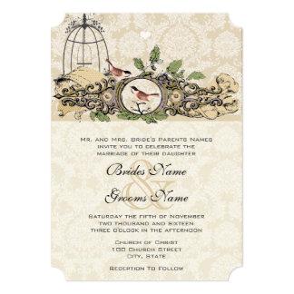 Rustci Forest Birdcage Acorn Love Birds Card
