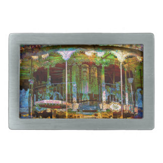 RUSTED CARNIVAL MEMORIES RECTANGULAR BELT BUCKLES