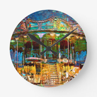 RUSTED CARNIVAL MEMORIES WALL CLOCK