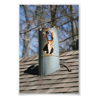 Rusted Chimney Photo Print
