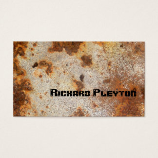 Rusted corroded metal, texture custom business card