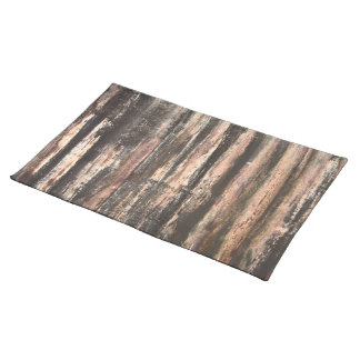 Rusted Corrugated Metal Texture Placemat