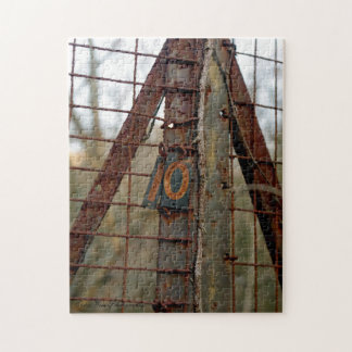 Rusted Fence Jigsaw Puzzle