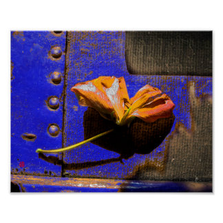 Rusted Flower Poster