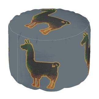 Rusted Llama Pouf