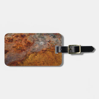 Rusted luggage tag