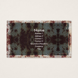 Rusted Metal Grunge Goth Business Card
