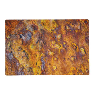 Rusted metal surface laminated place mat