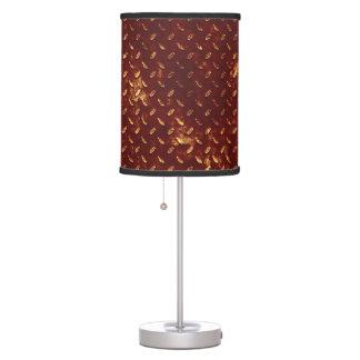 Rusted Metal Tread Table Lamp
