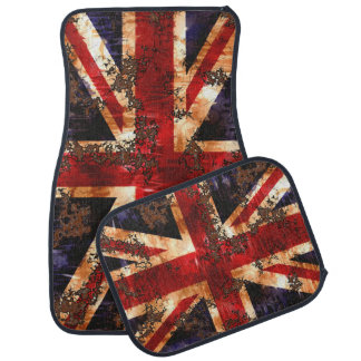 Rusted Patriotic United Kingdom Flag Car Mat