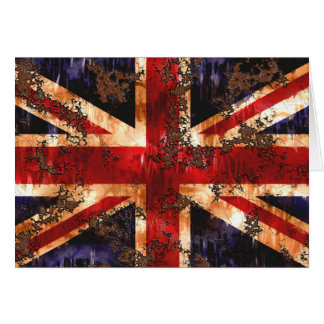 Rusted Patriotic United Kingdom Flag Card