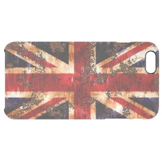 Rusted Patriotic United Kingdom Flag Clear iPhone 6 Plus Case