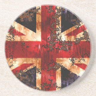 Rusted Patriotic United Kingdom Flag Coaster