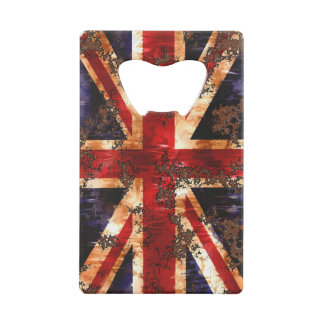 Rusted Patriotic United Kingdom Flag Credit Card Bottle Opener