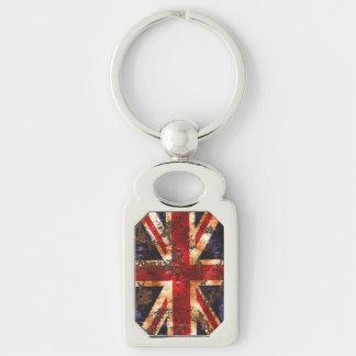 Rusted Patriotic United Kingdom Flag Keychain