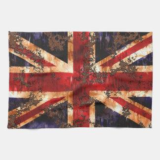 Rusted Patriotic United Kingdom Flag Kitchen Towel
