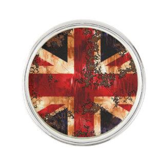 Rusted Patriotic United Kingdom Flag Lapel Pin