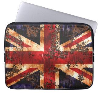 Rusted Patriotic United Kingdom Flag Laptop Sleeve