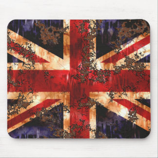 Rusted Patriotic United Kingdom Flag Mouse Pad