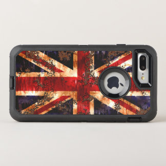 Rusted Patriotic United Kingdom Flag OtterBox Defender iPhone 8 Plus/7 Plus Case