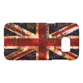 Rusted Patriotic United Kingdom Flag Samsung Galaxy S7 Case