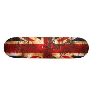 Rusted Patriotic United Kingdom Flag Skate Board Deck