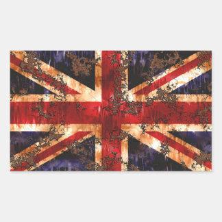 Rusted Patriotic United Kingdom Flag Sticker