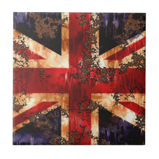 Rusted Patriotic United Kingdom Flag Tile