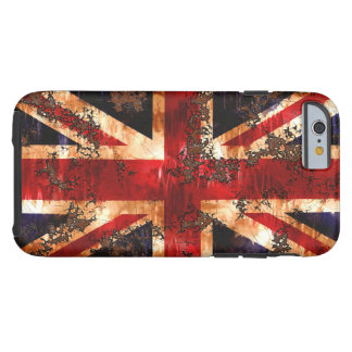 Rusted Patriotic United Kingdom Flag Tough iPhone 6 Case