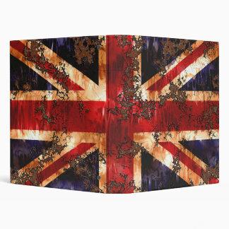Rusted Patriotic United Kingdom Flag Vinyl Binder