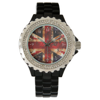 Rusted Patriotic United Kingdom Flag Watch