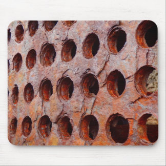 Rusted Perforated Metal Mouse Mat