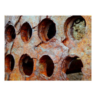 Rusted Perforated Metal Poster