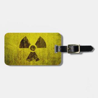 Rusted Radioactive Symbol Luggage Tag