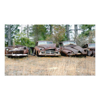 Rusted Remains Of Four Classics Photo Print
