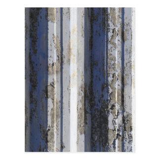Rusted sheet iron postcard