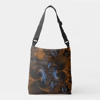 Rusted Splendor Fractal Crossbody Bag